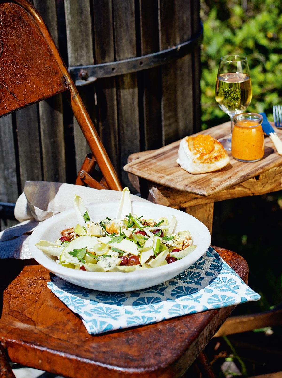 Coal-Fired BBQ Butterfish + Waldof Salad