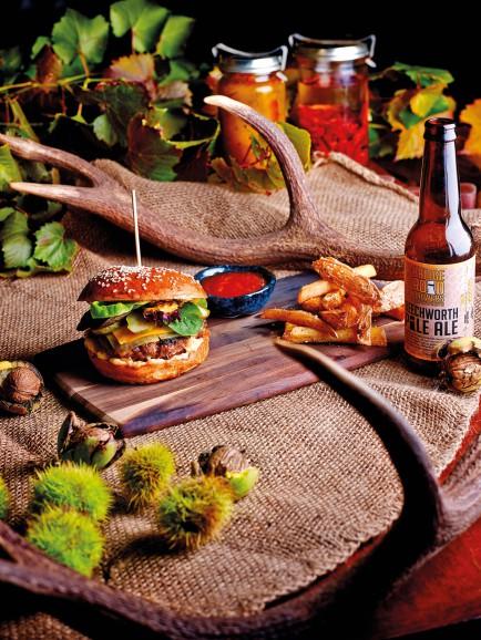 Snowline Hotel's Venison Burger