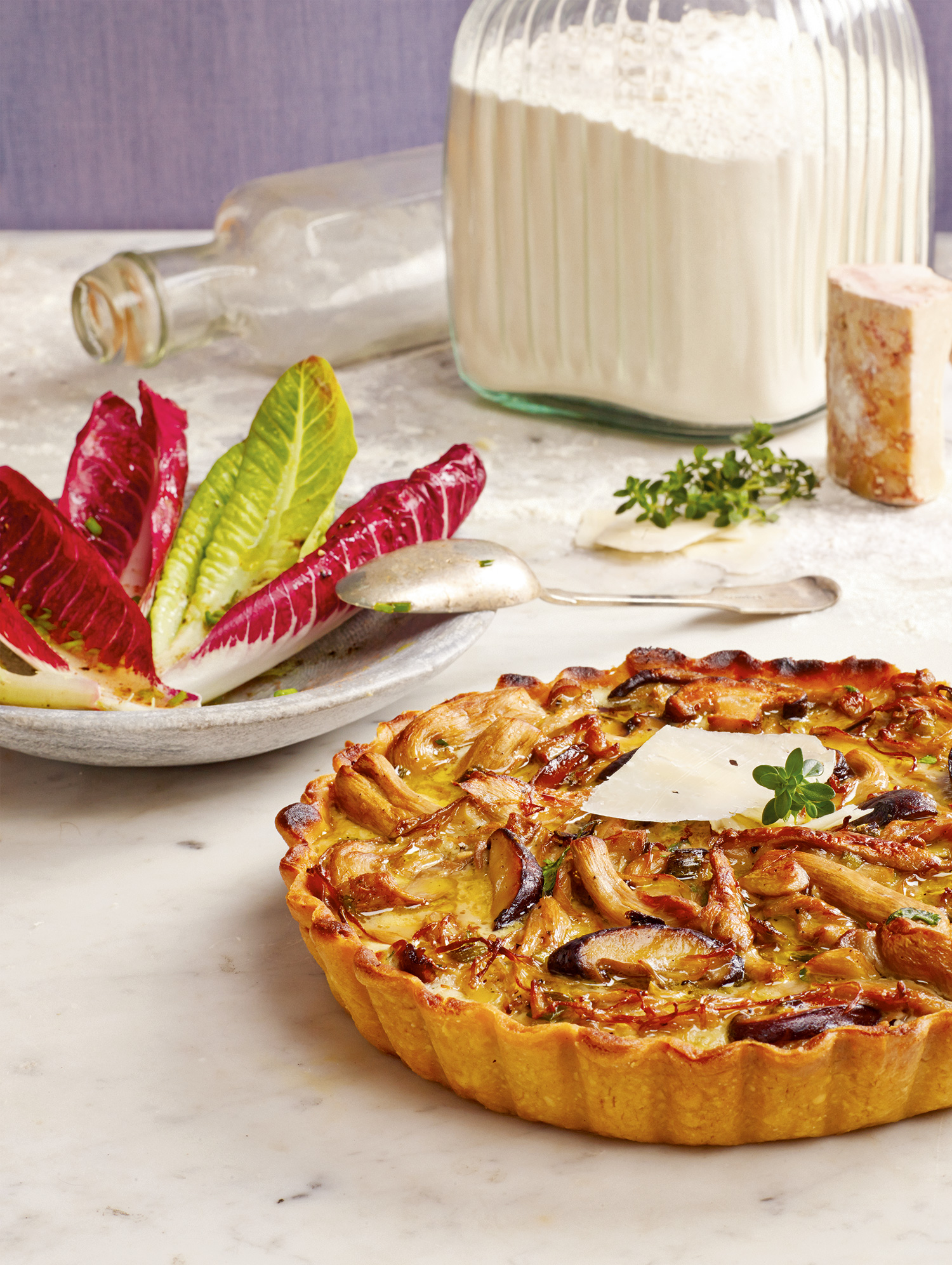 Chèvre Pie with a Trio of Mushrooms