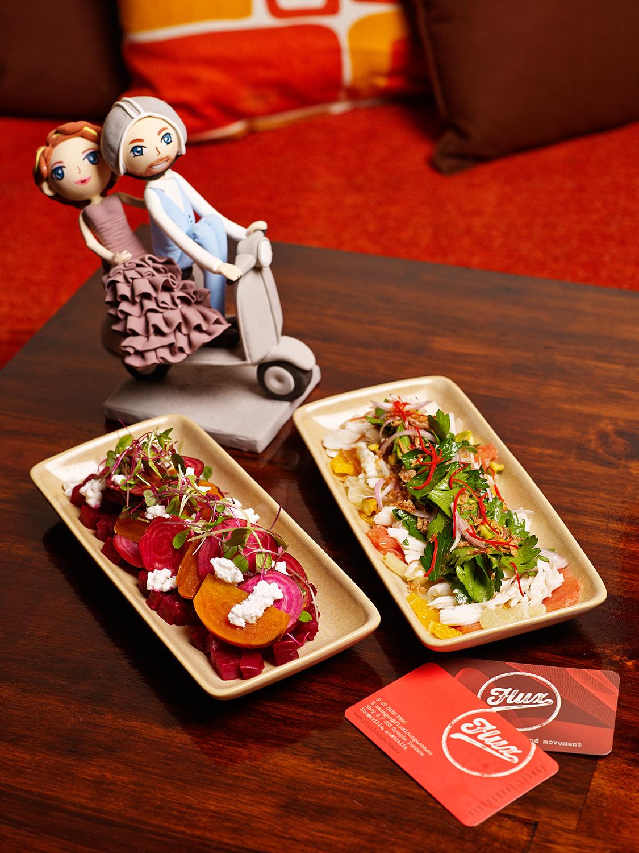 Flux Lounge salad taps