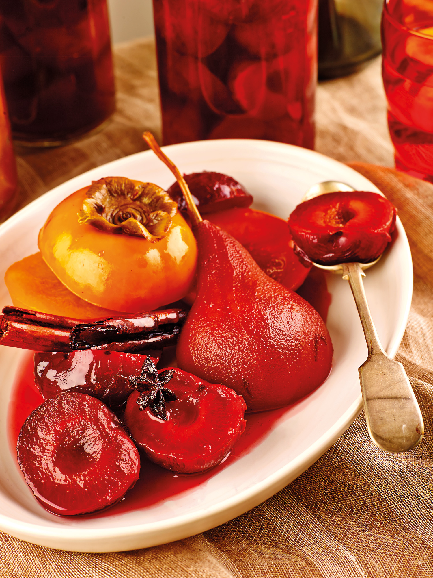 Spiced Poached Fruits