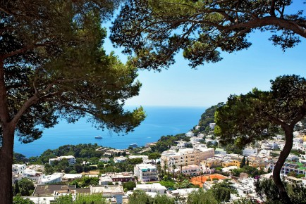 Views of the Mediterranean from up high, Capri, Italy
