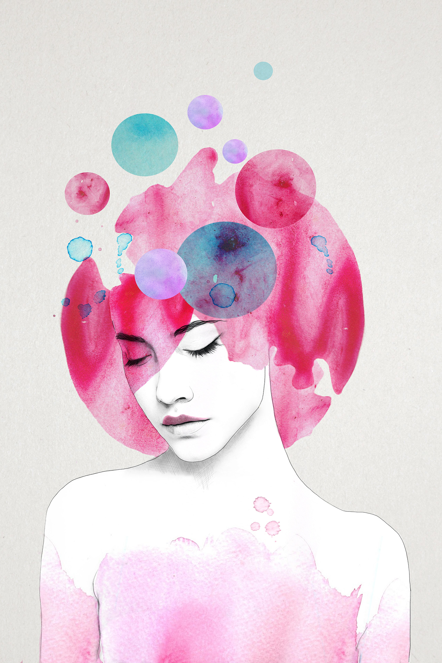 Miss Amelie is also a print work by Canadian illustrator Jenny Liz Rome