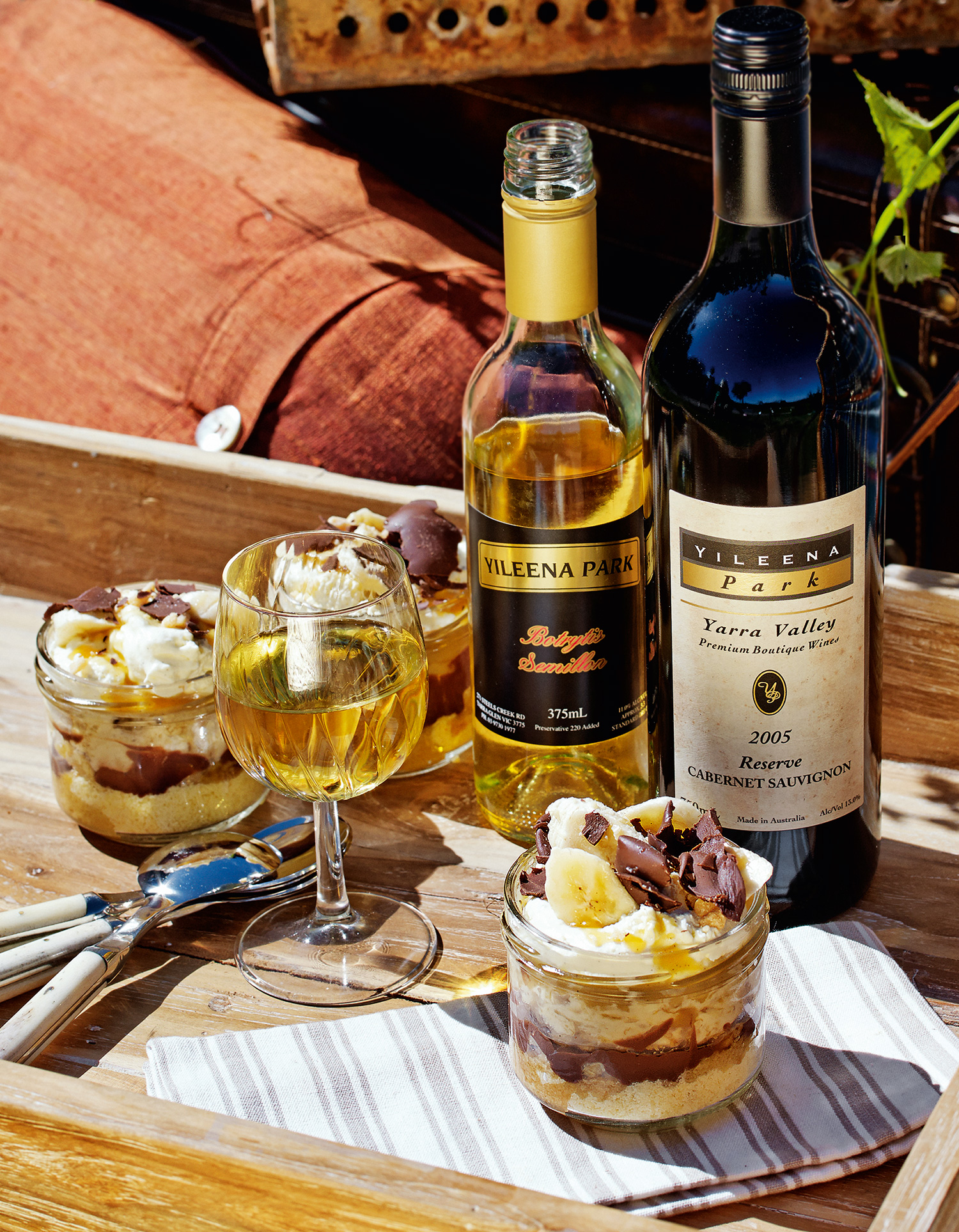 Baby Banoffee Pies with Yileena Park Botrytis Semillon