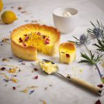 Classic Lemon Tart with sweet lemon zest and salade de fleurs