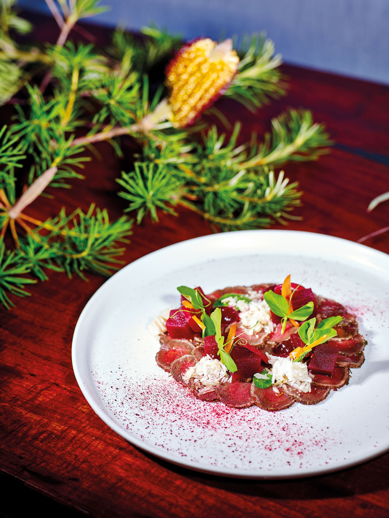 Kangaroo Carpaccio with Native Dukka