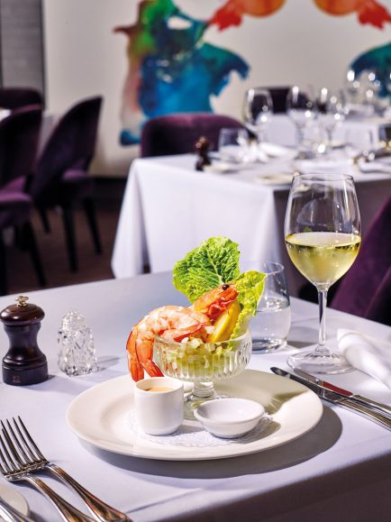 Traditional Prawn Cocktail, baby gem lettuce