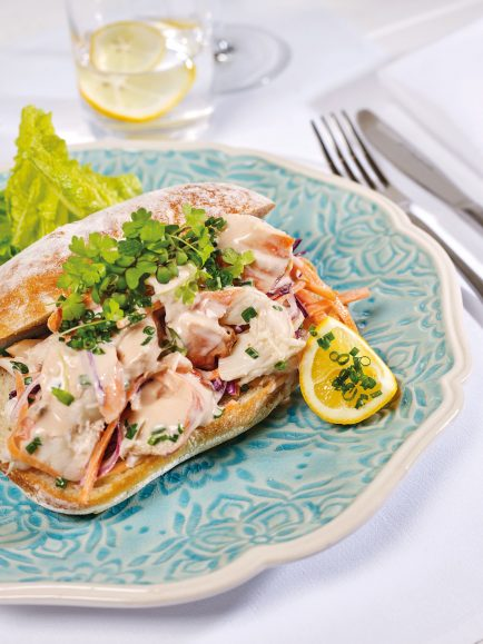 NY Lobster Roll with Roasted Tomato Marie Rose