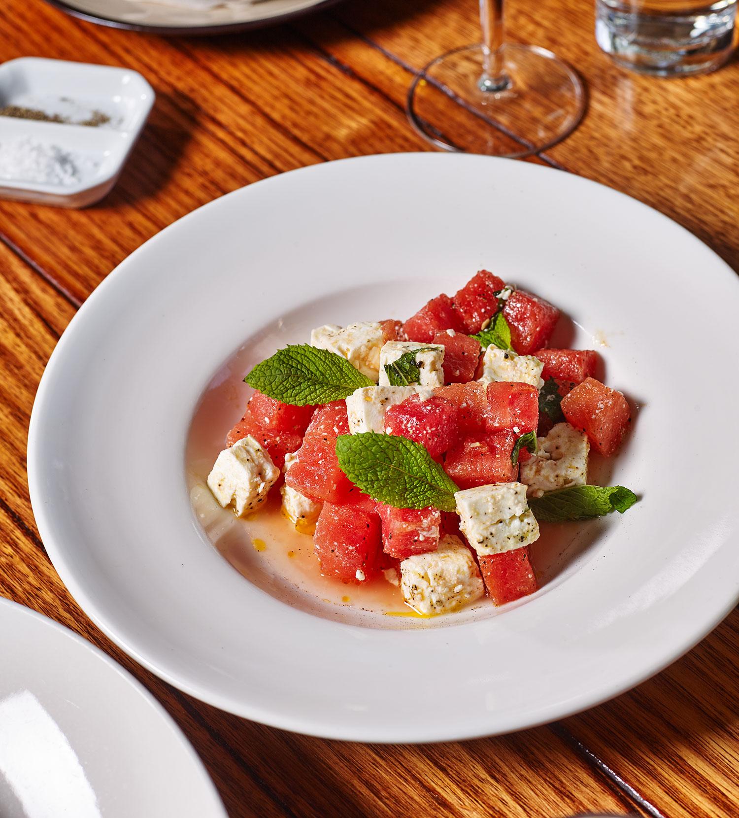 watermelon, fetta and mint salad