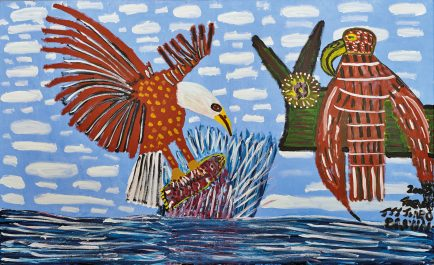 Trevor 'Turbo' Brown Eagle Catching Fish and Taking it to the Nest (Sea Eagle), 2009