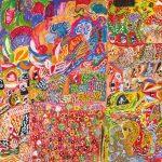 Maureen Thompson, Burial Ground Place, 2004 120cm x 99cm, Acrylic on canvas