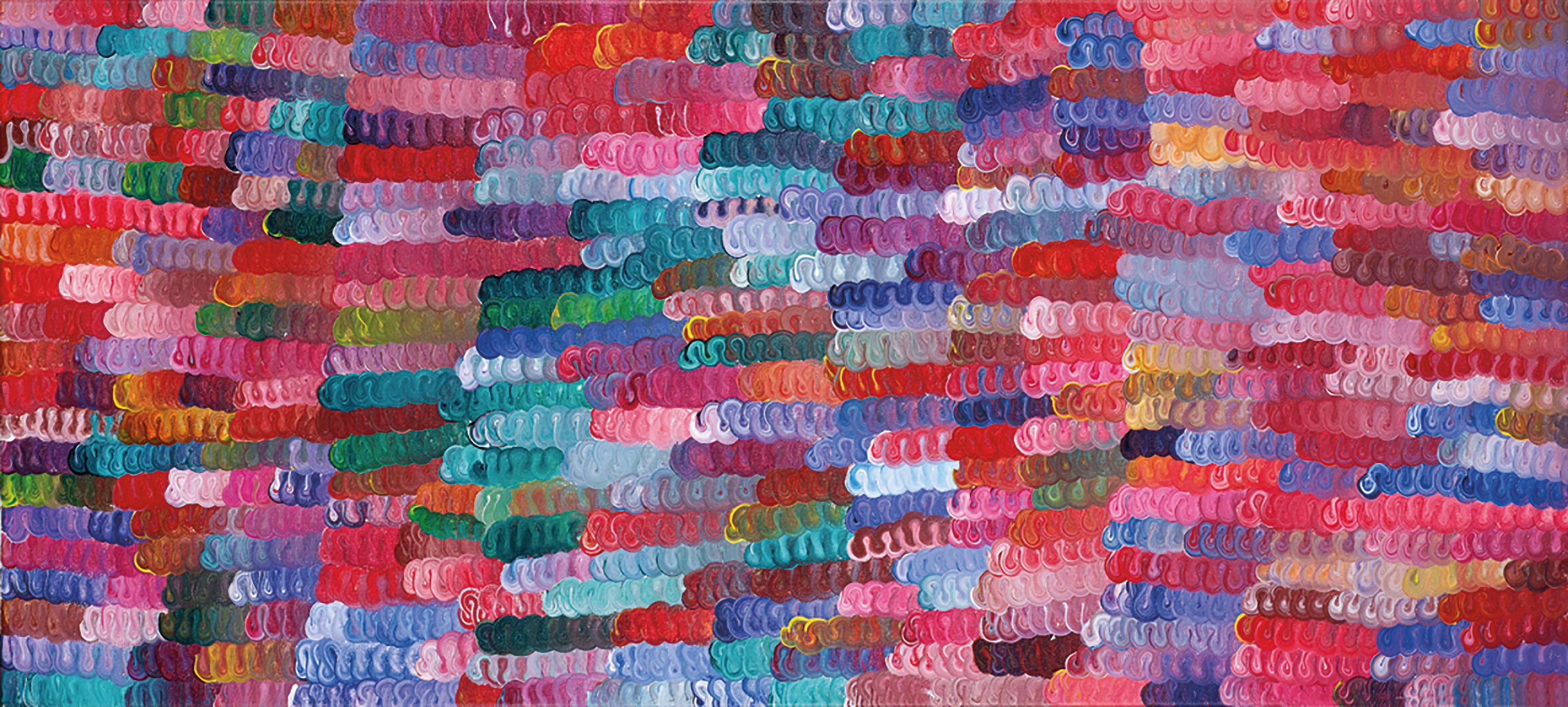 Faith Thompson Nelson Snake Tracks, 2003 123 x 56cm, Acrylic on canvas
