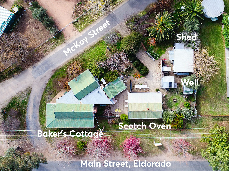 Baker's Cottage, Eldorado site map
