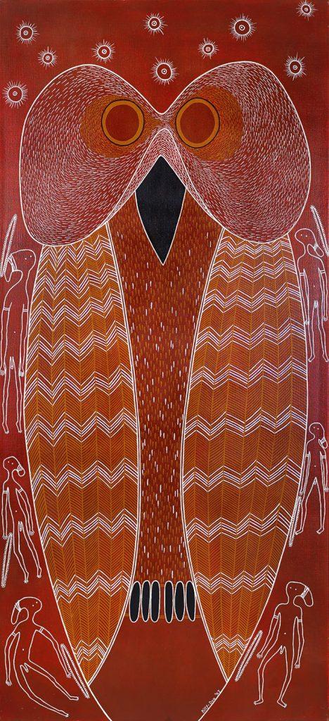 Billy Doolan Mopoke Owl, 2009 91 x 198cm, Acrylic on canvas $12,500