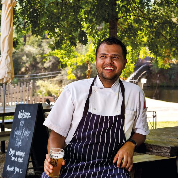Nepalese-born chef of Ginger Baker Ganesh Luitel