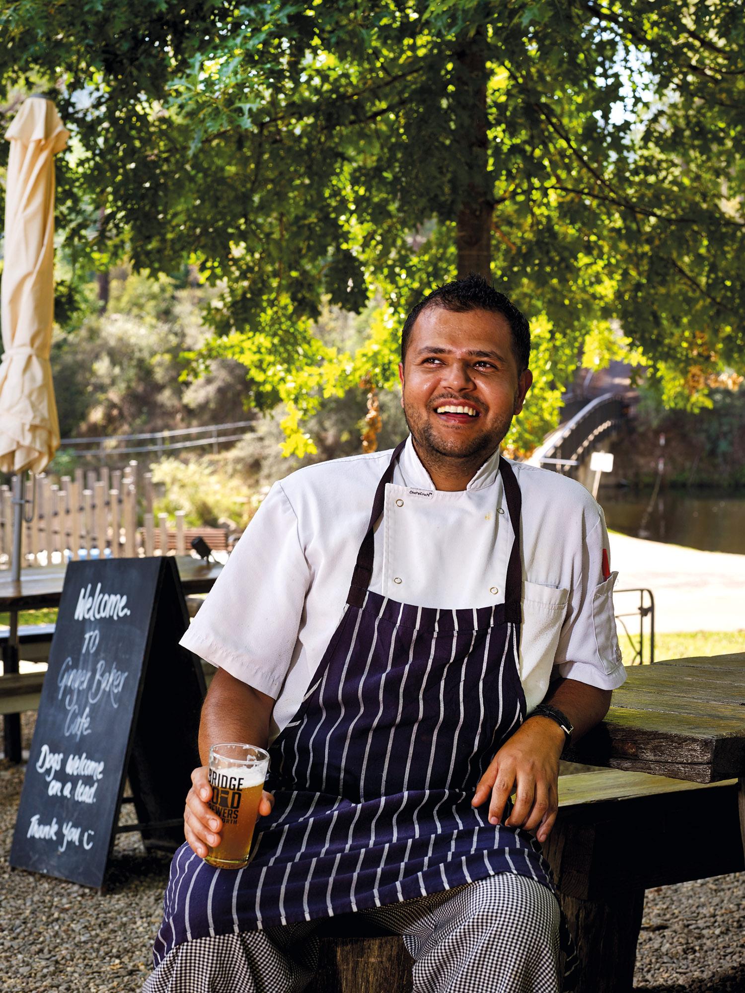 Nepalese-born chef of Ginger Baker Ganesh Luitel