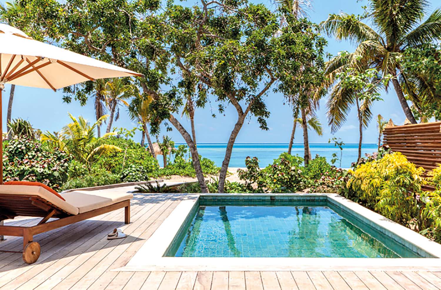 Beachfront Pool Villa Deck - Six Senses Fiji