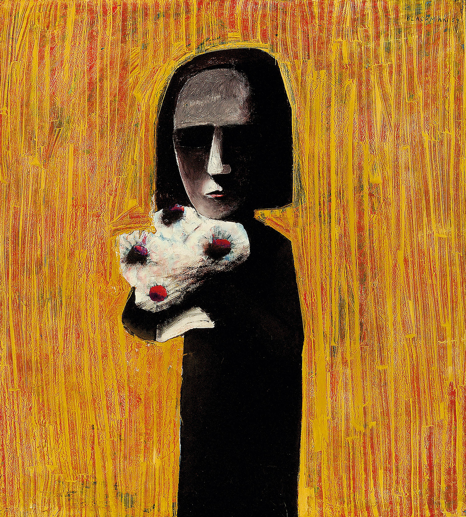 Charles Blackman, Girl with a Nosegay, 1959 Oil on composition board, 151.3 x 135.9cm TarraWarra Museum of Art collection Gift of Eva Besen AO and Marc Besen AO Donated through the Australian Government's Cultural Gifts Program, 2009 © Charles Blackman/Licensed by Viscopy, 2015