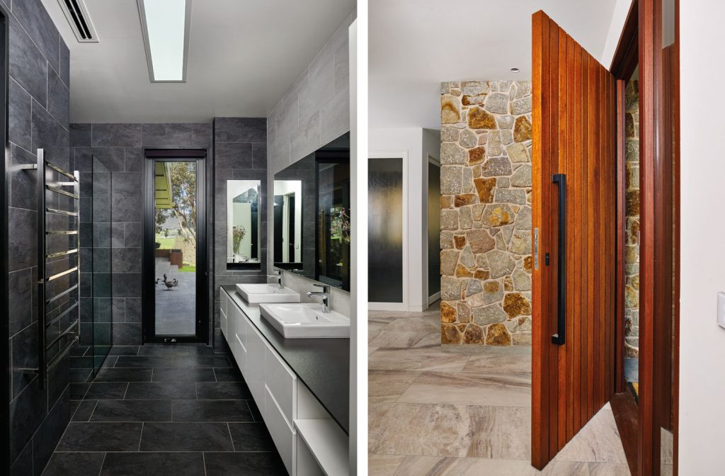 Designer touches that abound throughout the home