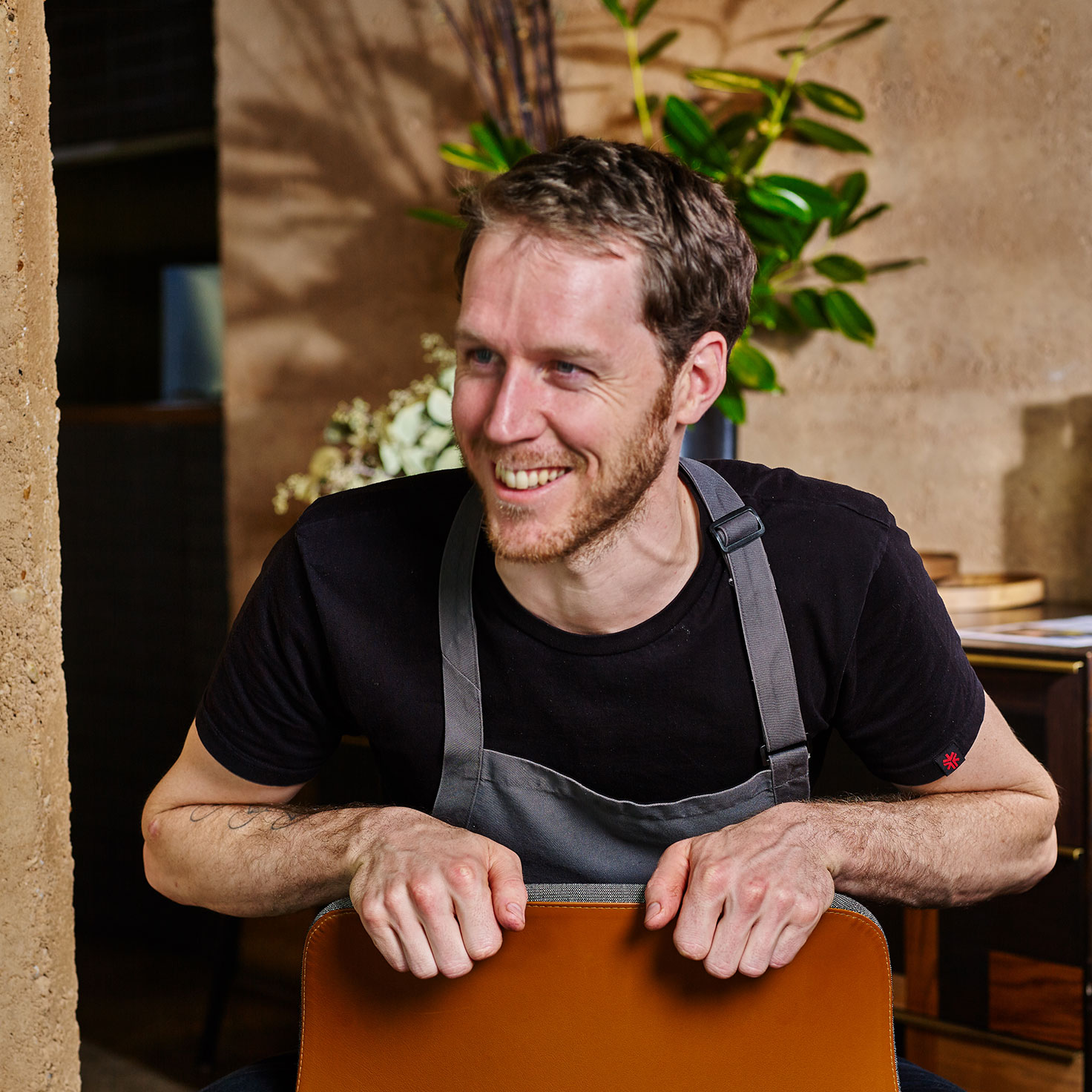 Mark Ebbels - vegan head chef at TarraWarra restaurant