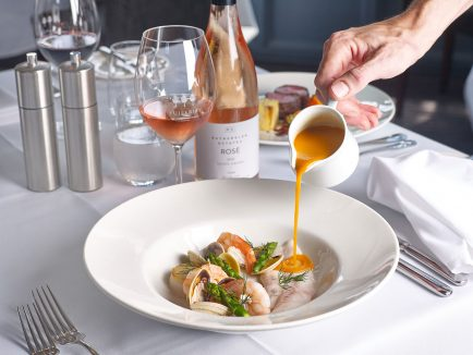 Bouillabaisse, Murray River cod, scallop, prawns, clams & sprouts