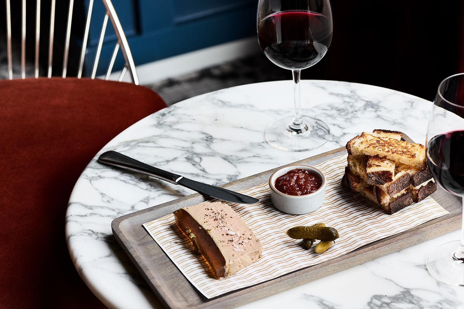 The Drawing Room offers a light menu of perfectly curated bites.