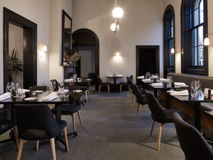 New minimalist interior at Provenance, Beechworth