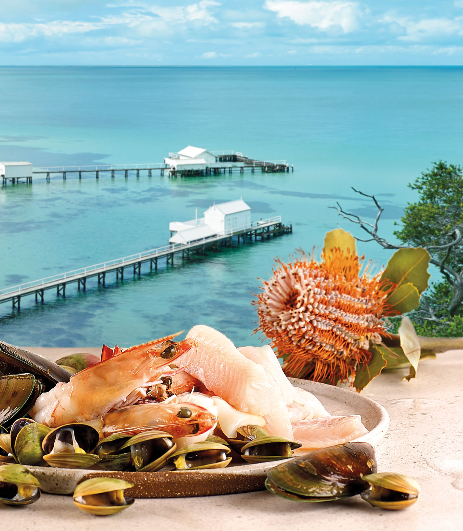 Sorrento seafood platter, Victoria