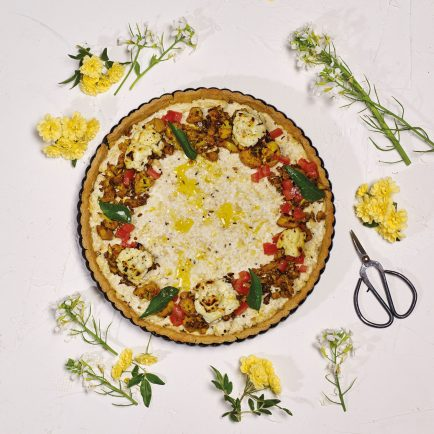 Spiced Cauliflower & Quark Tart