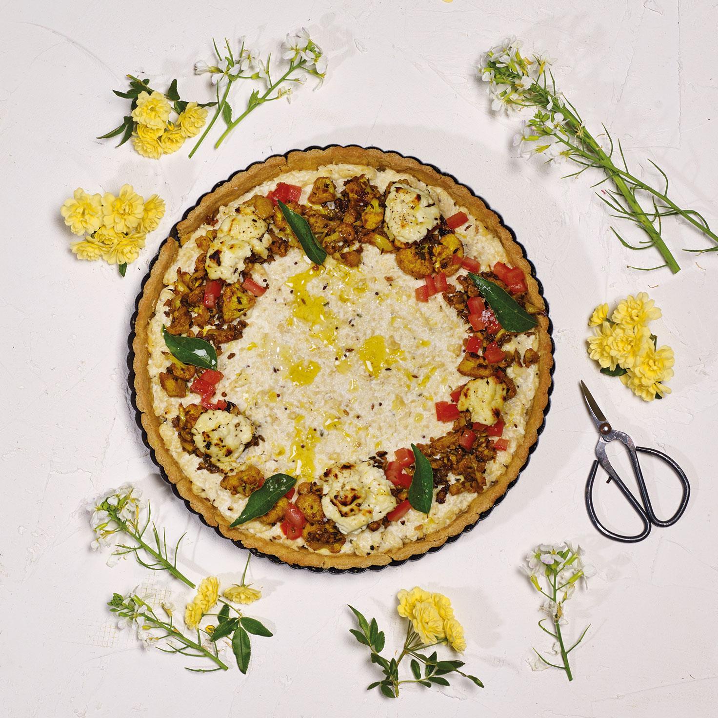 Summer Recipe: Spiced Cauliflower & Quark Tart