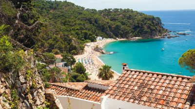 Postcard from Cala Canyelles, Spain