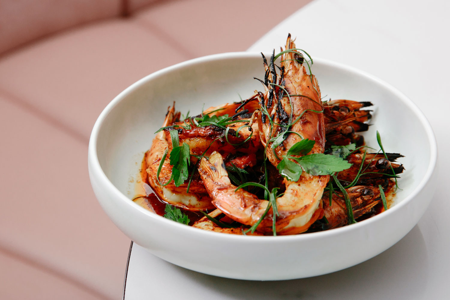 Donna Chang - Jumbo king prawns with sweet and hot coriander dressing