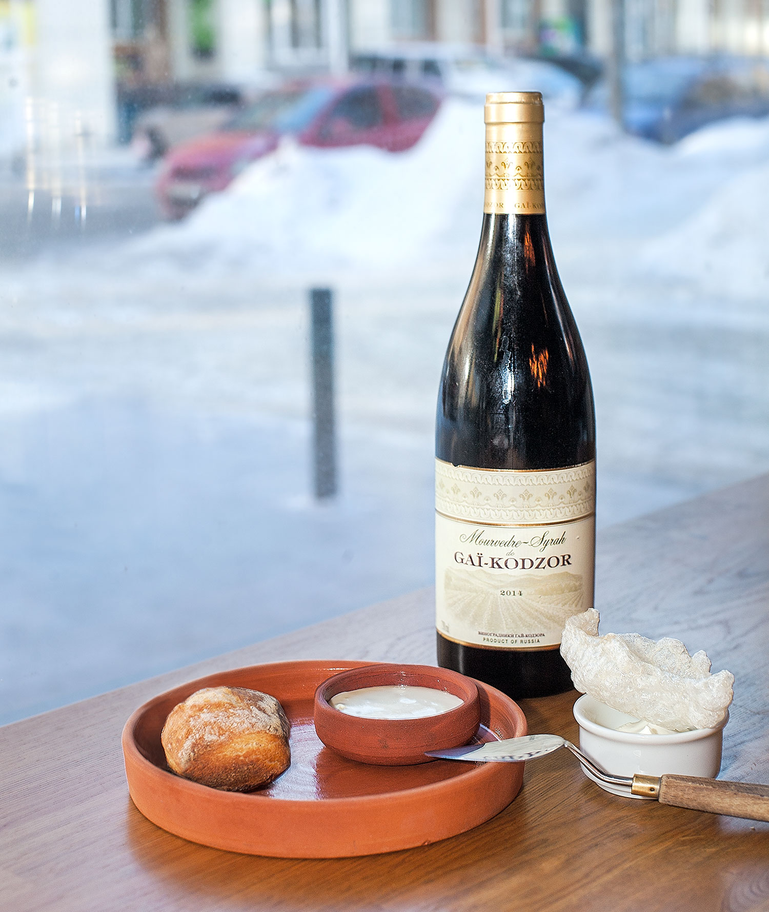 Gaï-Kodzor 2014 Mourvedre-Syrah with cream camembert