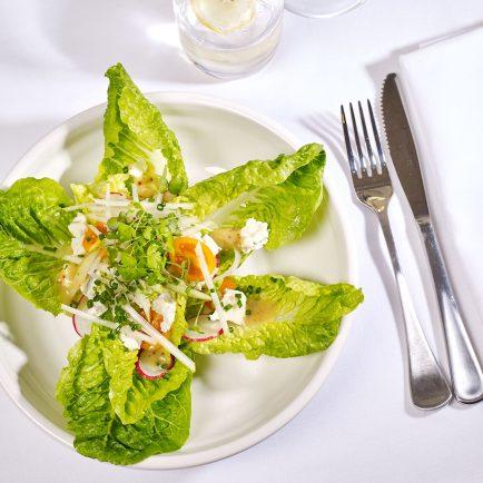 Baby Cos, Gorgonzola and Pear Salad