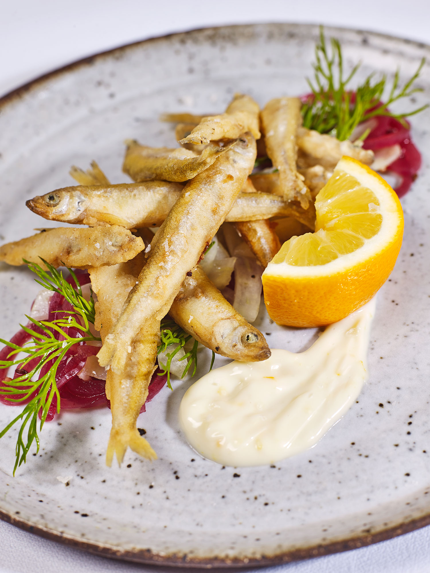 Crispy White Bait with Meyer Lemon Aioli