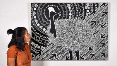 Aboriginal Art: Tarsha Davis – Moon, Spirits and Soul