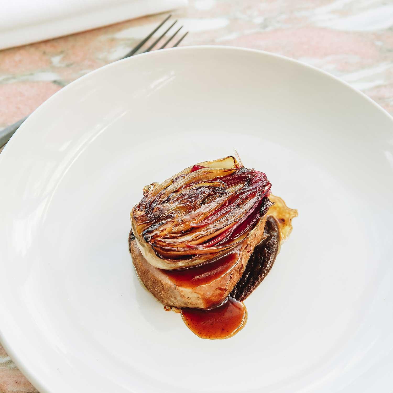 Pork Neck, Mead & Caramelised Witlof