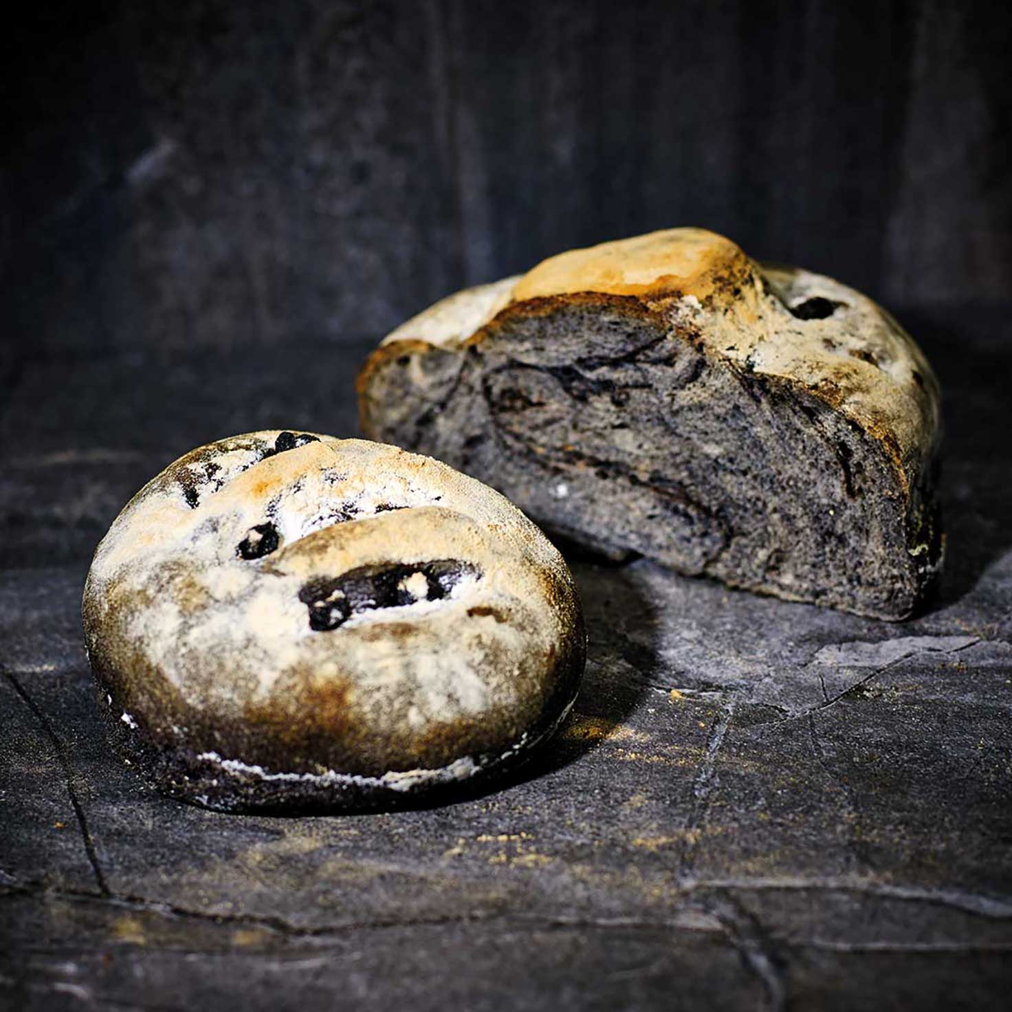 Black Garlic Sourdough Bread