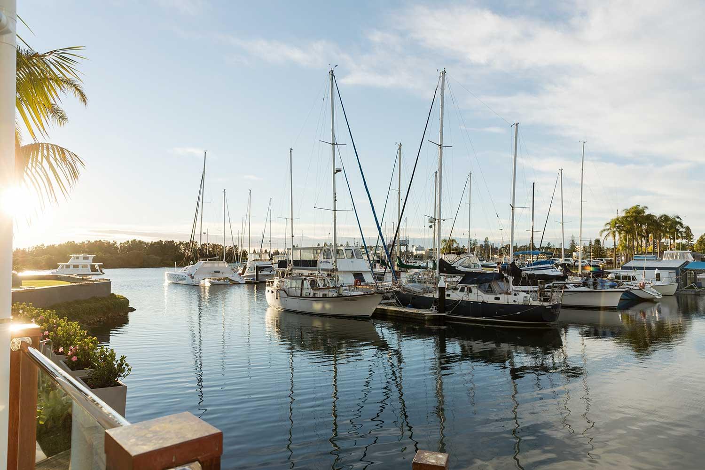 Hastings River Marina, viewed from Sails Resort