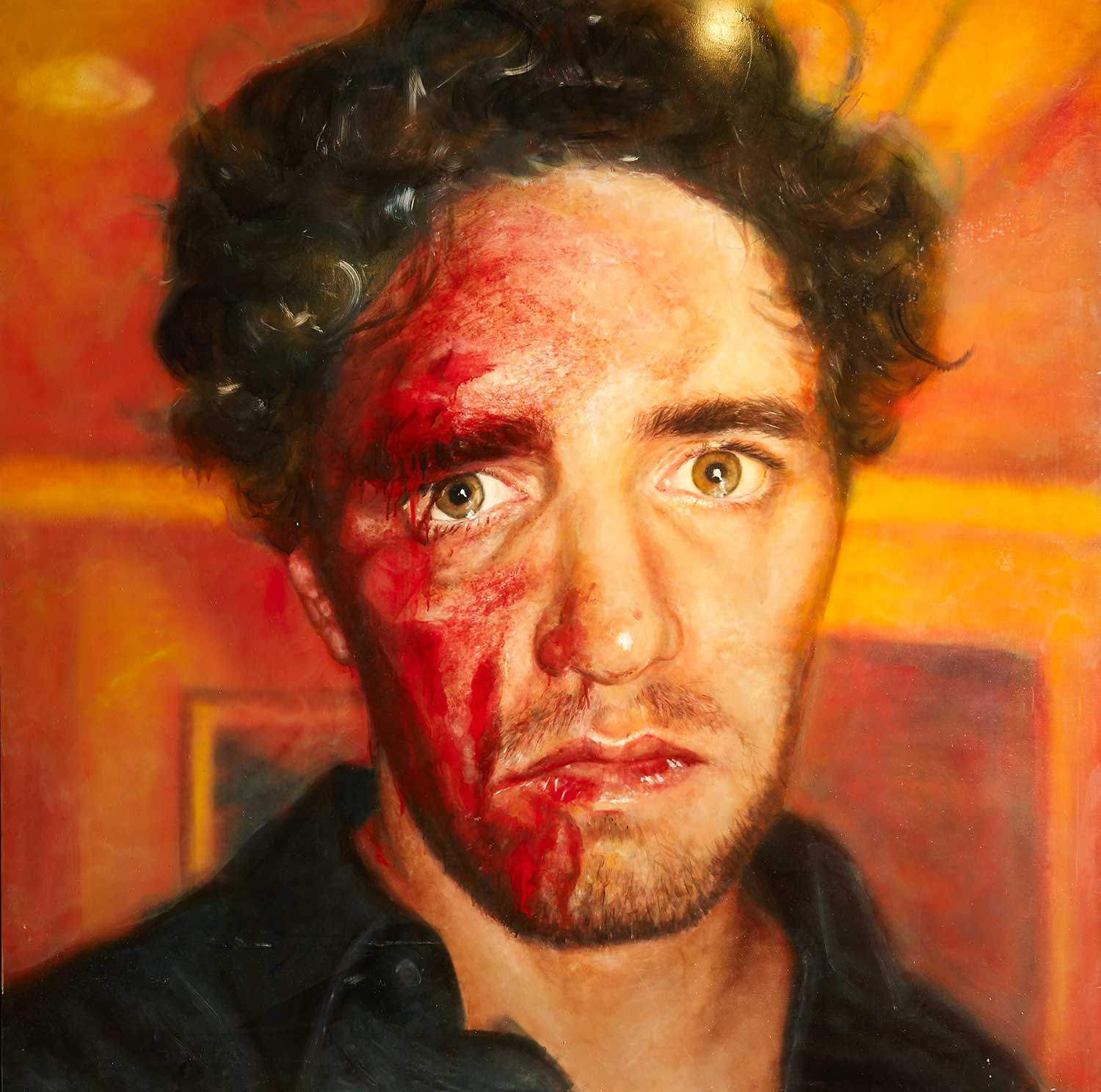 Vincent Fantauzzo, Self Portrait, Oil on Linen - hangs on the 6th floor of The Fantauzzo, Art Series Hotel