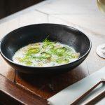 Sashimi Kingfish, buttermilk, apple, basil oil, green chilli and fennel