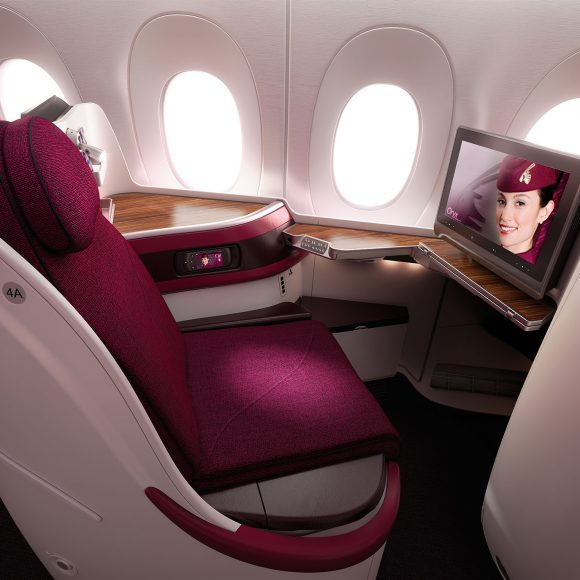 Qatar Airways A-350 Business Class