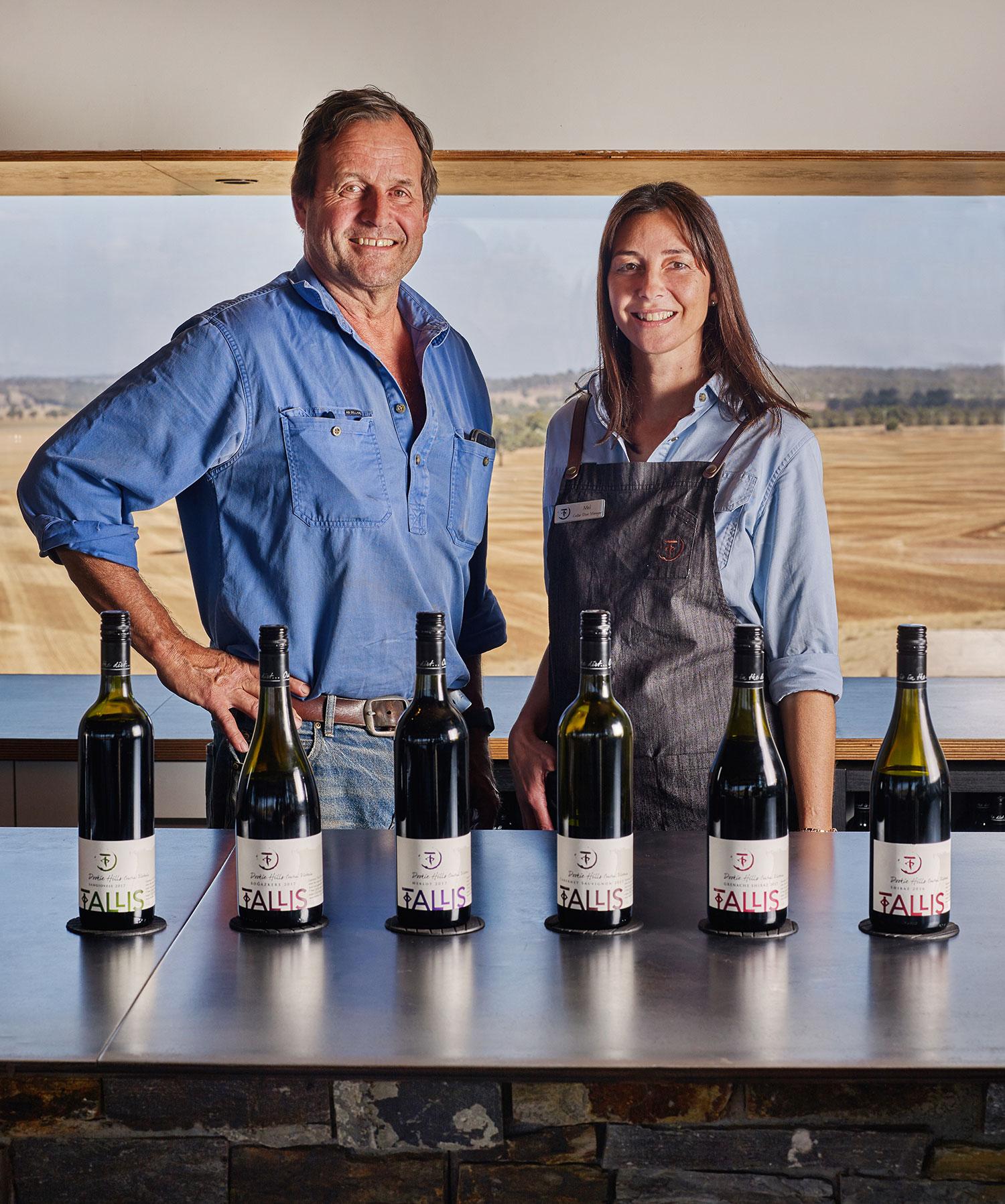 Winemaker Richard Tallis with Cellar Door Manager Mel Mintern