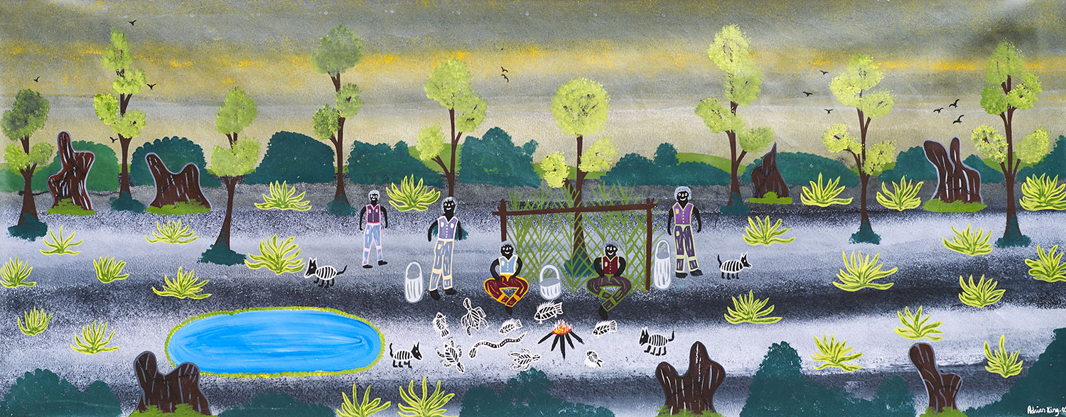 Adrian King, Mosquito Place, 2005 93 x 239cm, Acrylic on canvas