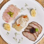 Sashimi 3 Ways with Fresh As Freeze Dried Yuzu Juice