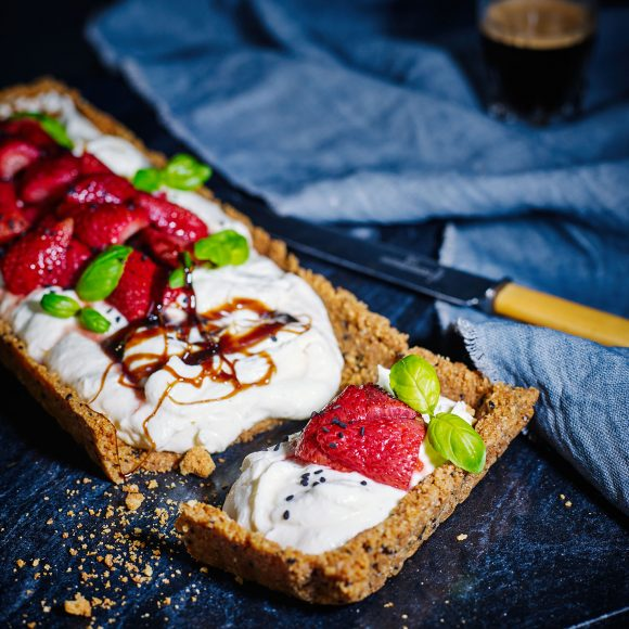 Sesame Ricotta Cheesecake Tart