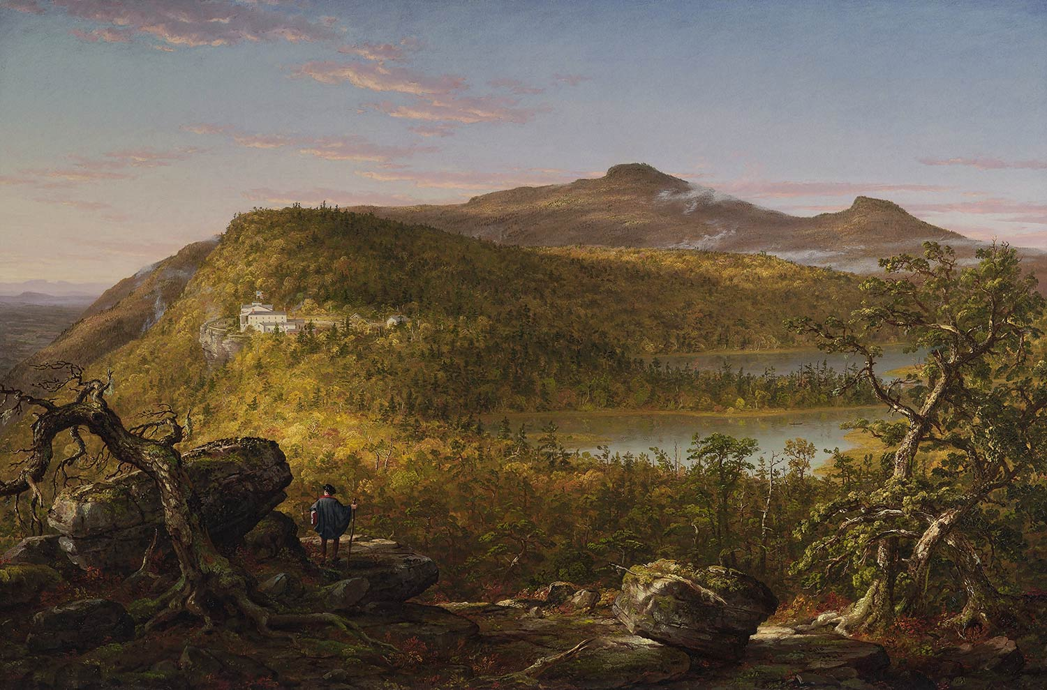 Thomas Cole, A View of the Two Lakes and Mountain House, Catskill Mountains, Morning, 1844, Brooklyn Museum of Art